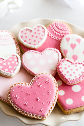 heart shaped cookies images