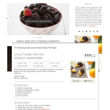 food recipe web design theme image