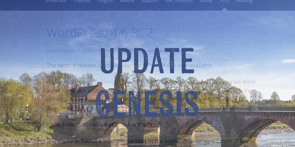 WordPress 4.6 – Update Genesis