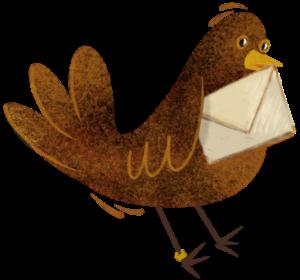 Messenger Bird with Letter